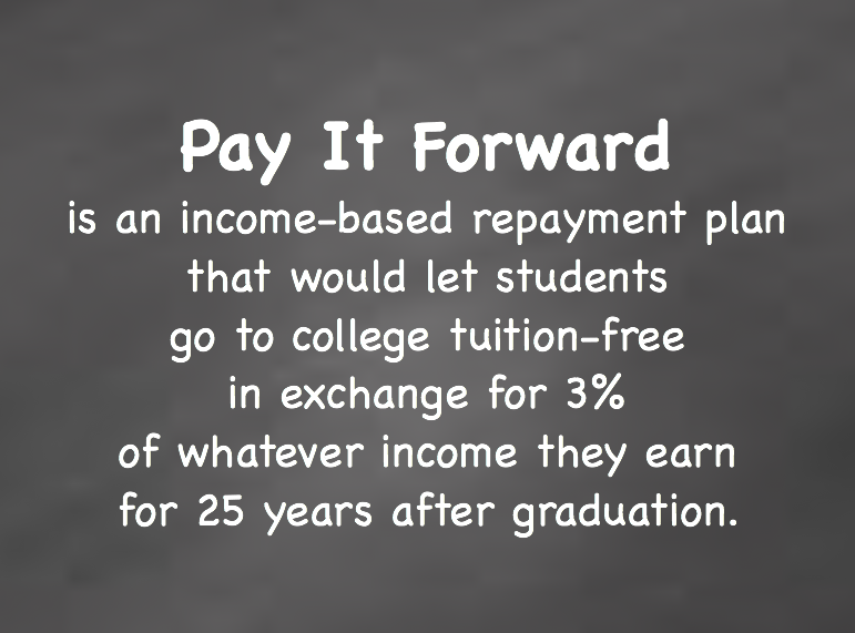 """2723 should college be free If college were to be treated the same as lower levels of education and become """"free,"""" that would mean either a brand new tax would be created to pay for it or one or more already established taxes would rise to offset the cost."""